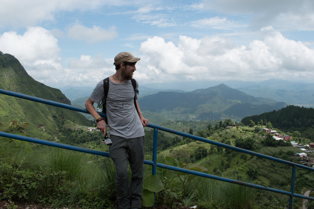 Craig Nearly At The Top Of The Viewpoint in Bandipur, Nepal