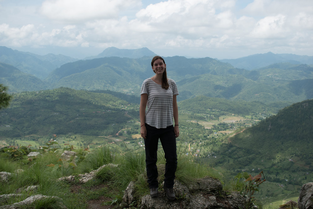 A Sweaty Betty At The Top Of The Viewpoint in Bandipur, Nepal