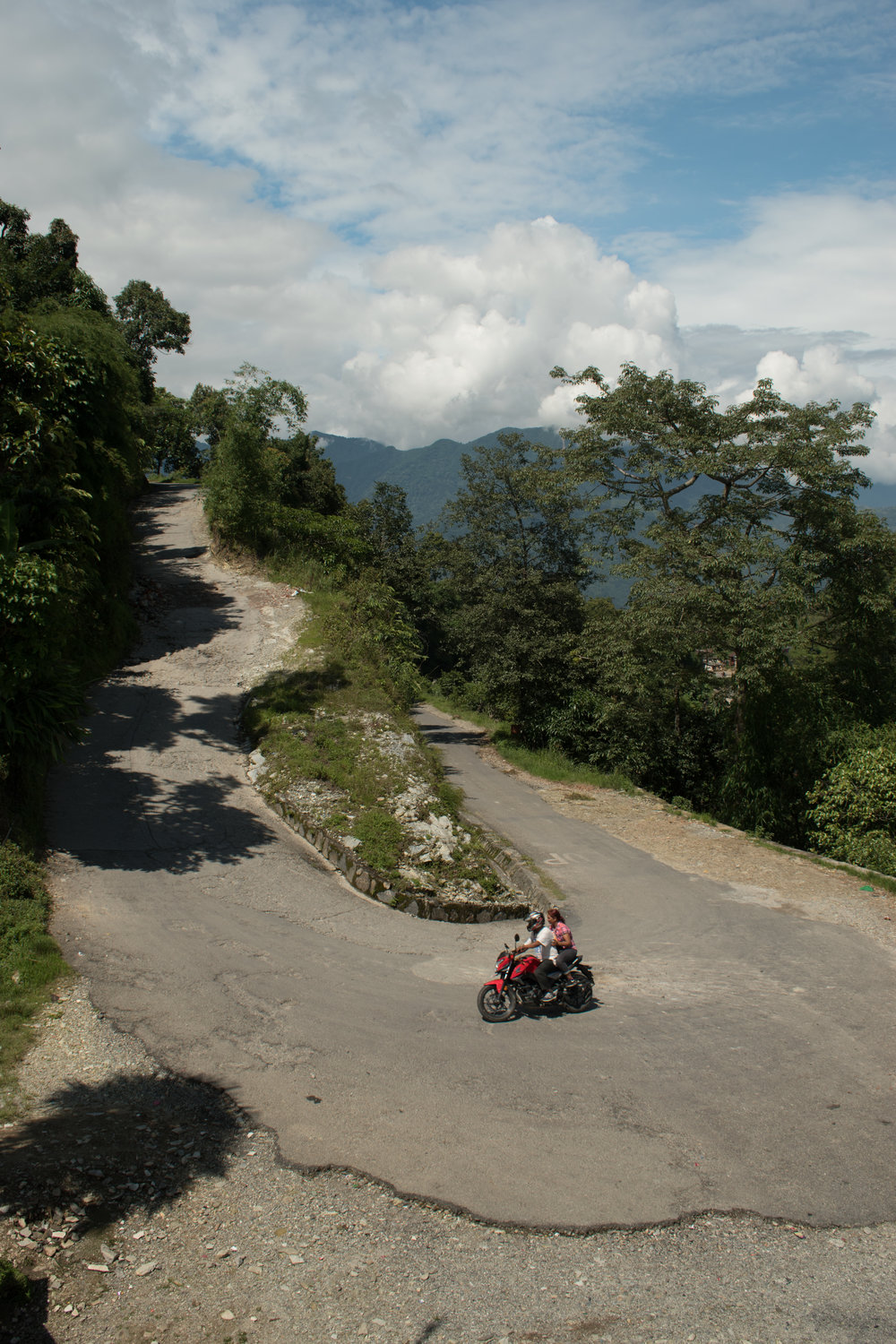 A Hairpin Bend in Pokhara, Nepal