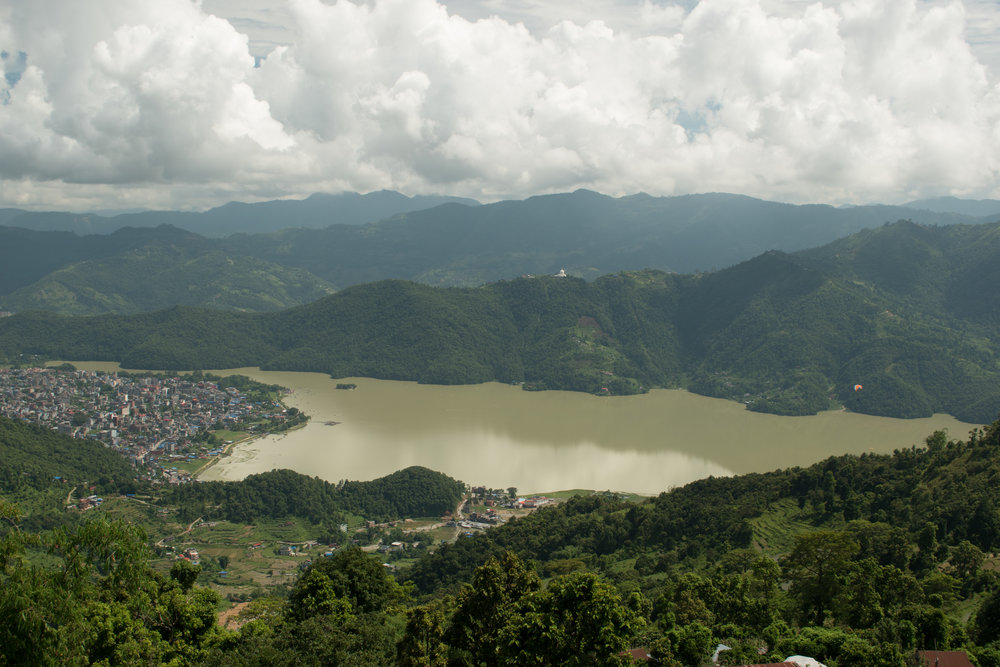 Phewa Lake Seen From Sarangkot in Pokhara, Nepal