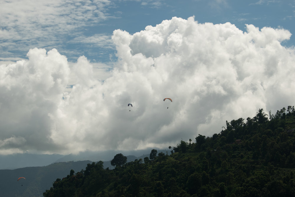 Paragliding Is Popular In Pokhara, Nepal