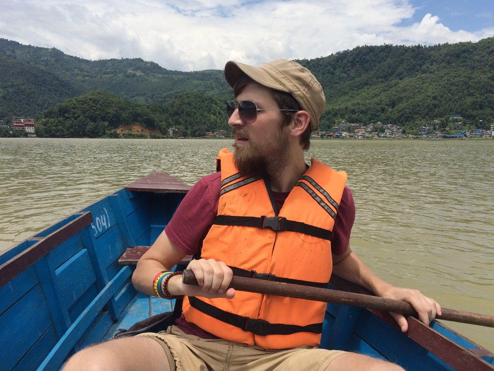 Craig Rowing In Pokhara, Nepal