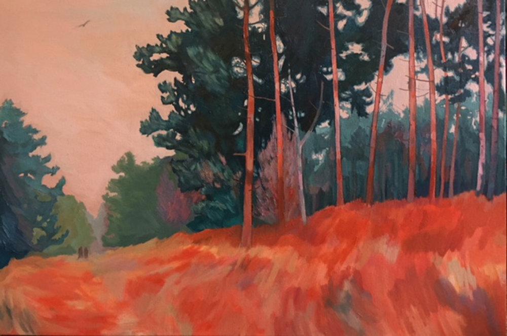The Poachers,76cm x 51cm,oil on canvas