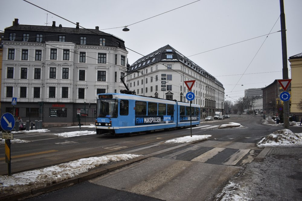 A Tram in Oslo, Norway