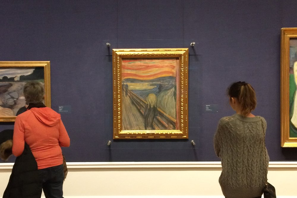The Scream by Edvard Munch in The National Gallery, Oslo in Norway