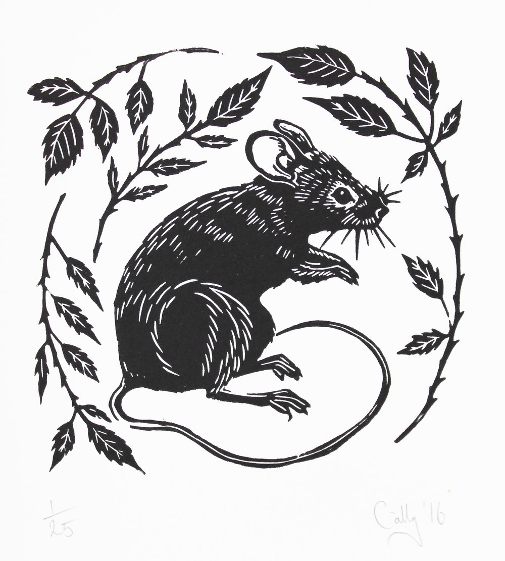 Mouse Print By Cally Conway