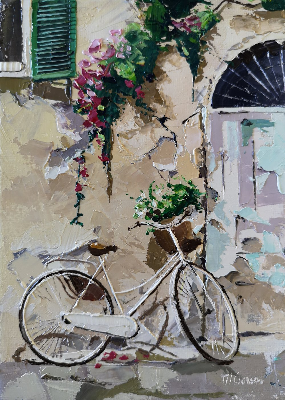 Bike Near A Tatty Door by Tom Gowen