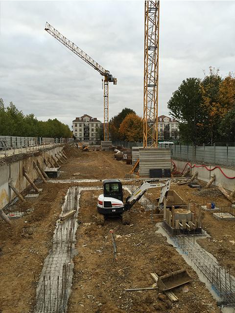 Réalisation des fondations - Bâtiment D