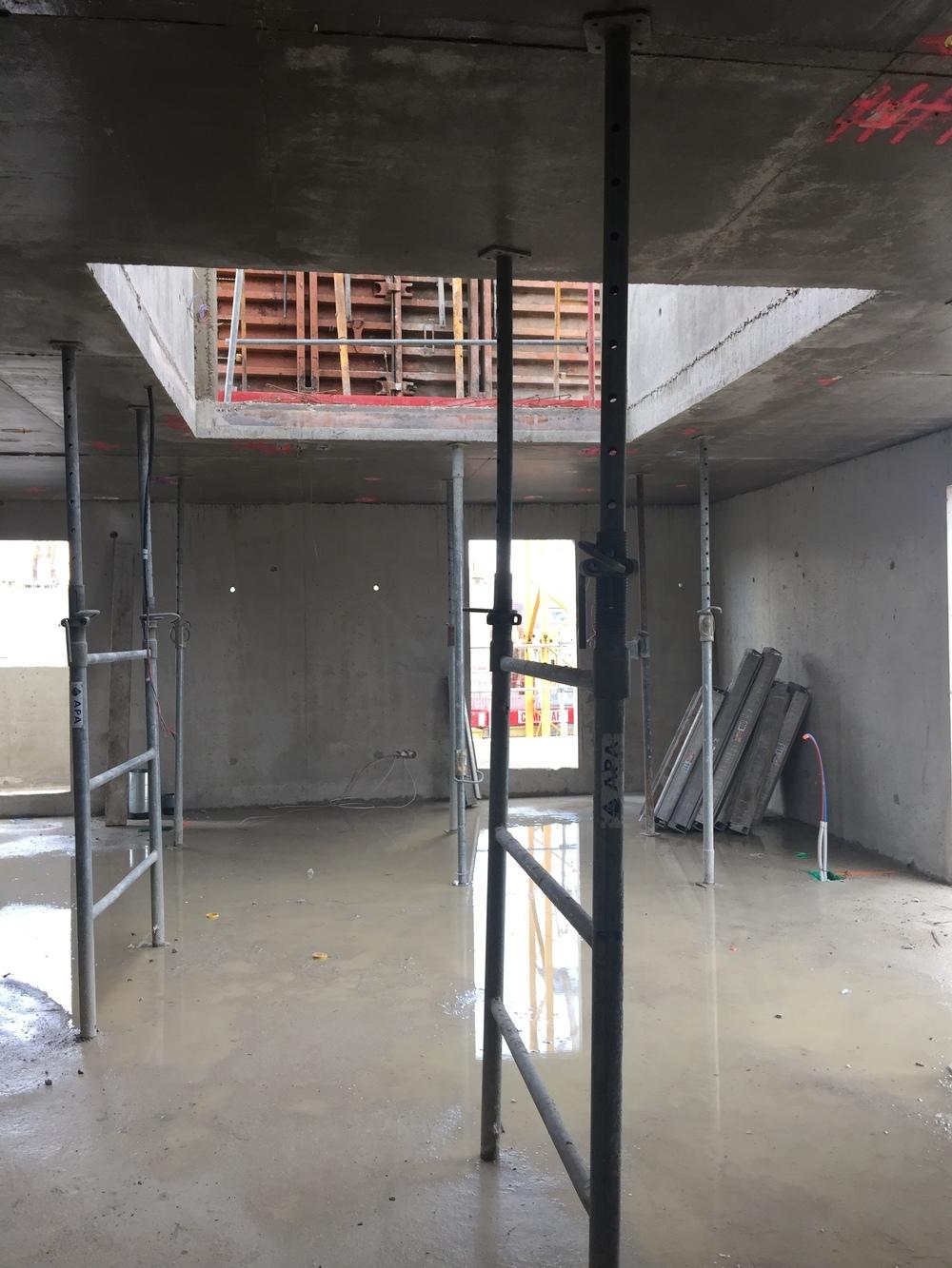 Vide sur séjour des appartements en Rooftop