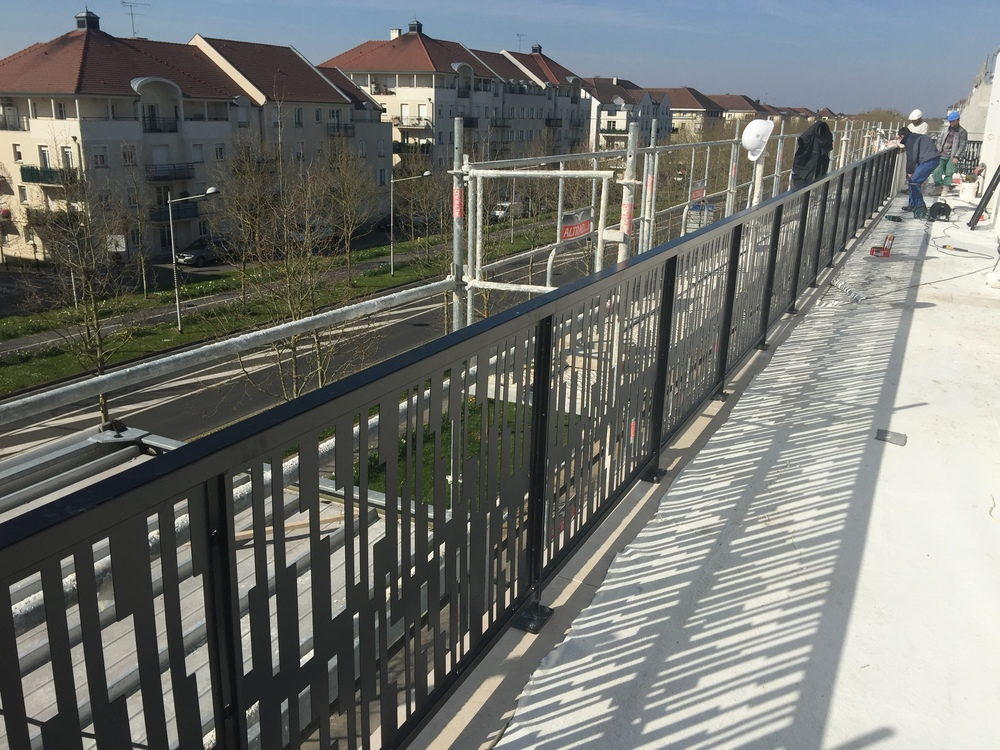 Terrasses des appartements en dernier étage