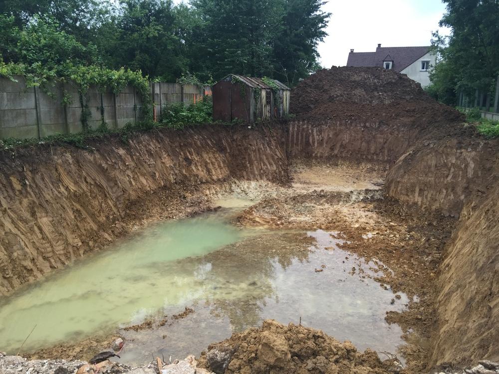 Pré-terrassement pour le sous sol