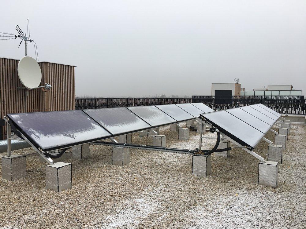 Pose de panneaux solaire chauffant 30% de l'eau chaude sanitaire