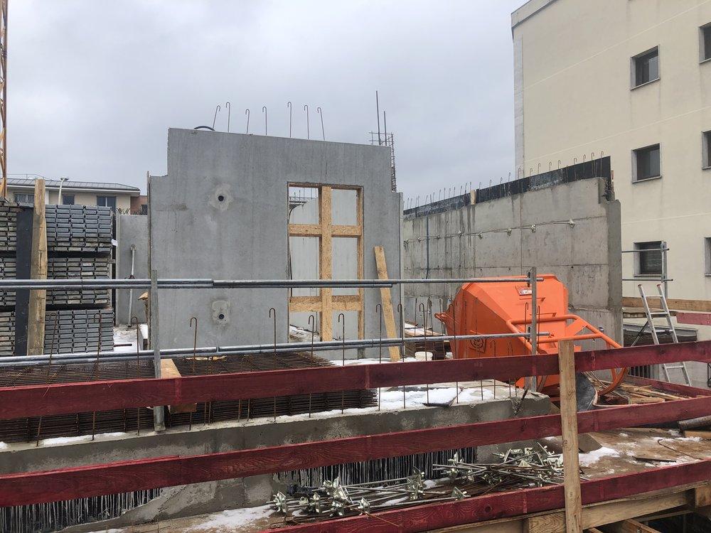 Mise en place des pré-murs du R+1