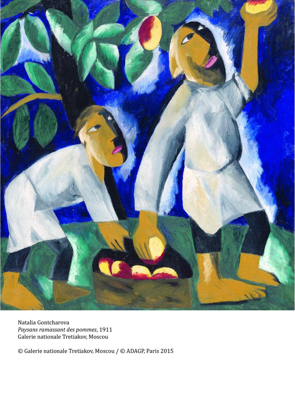 Natalia Goncharova. Picking Apples, 1911. State Tretyakov Gallery