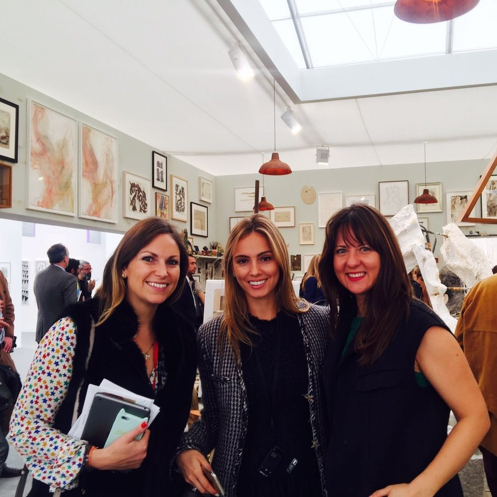 Sarah Bourghardt, Alina Uspenskaya and Alina Davey on the ArtSocial tour of Frieze Art Fair 2016.