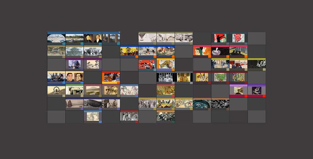 MIT Visualizing Cultures, units menu