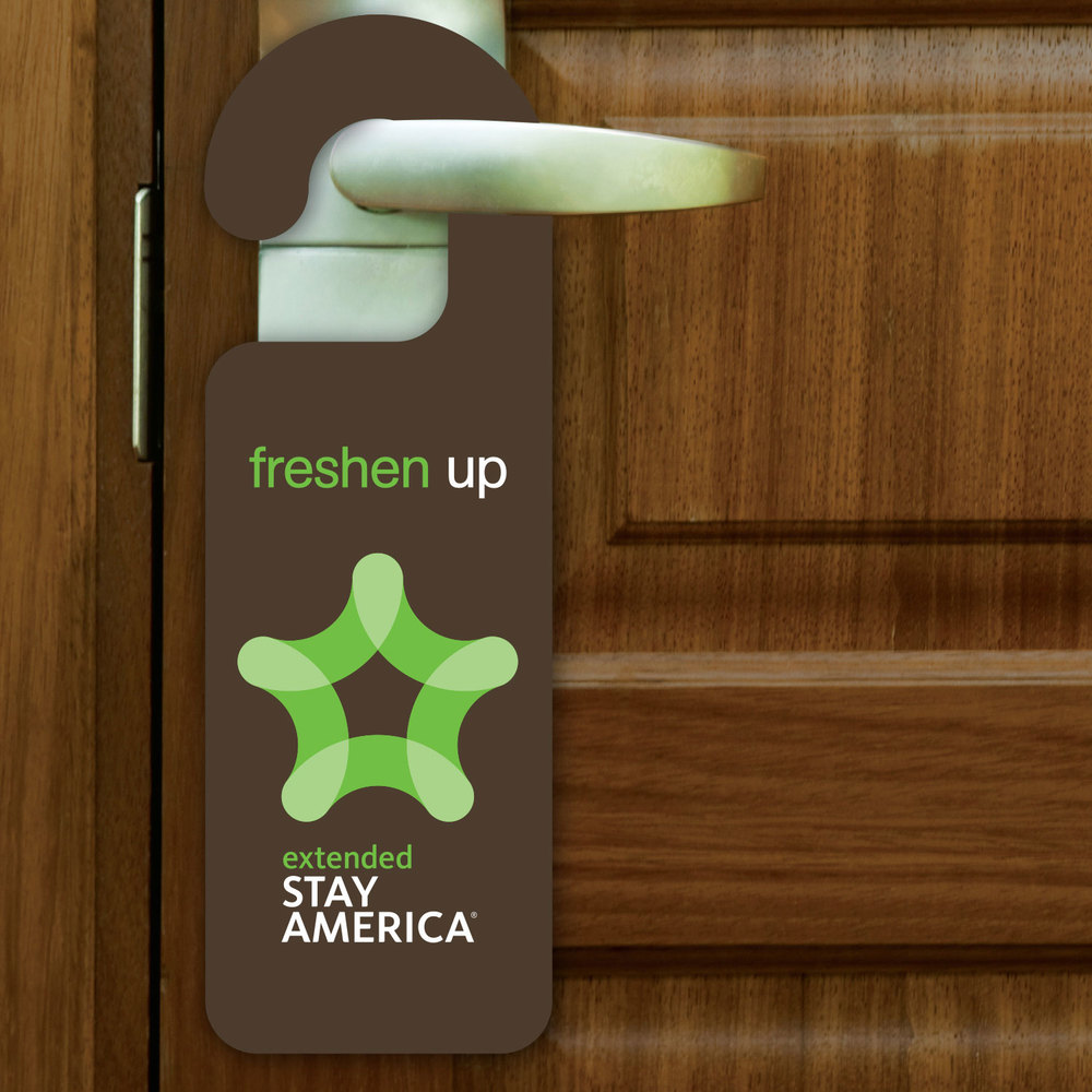 Extended Stay America door hanger