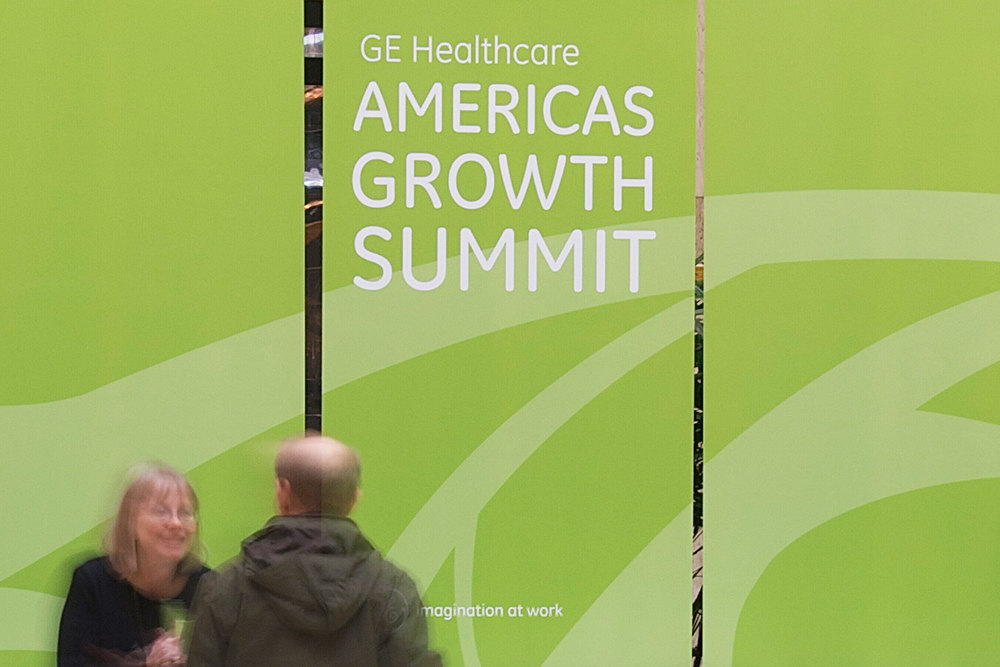 GE Healthcare Americas Growth Summit registration desk