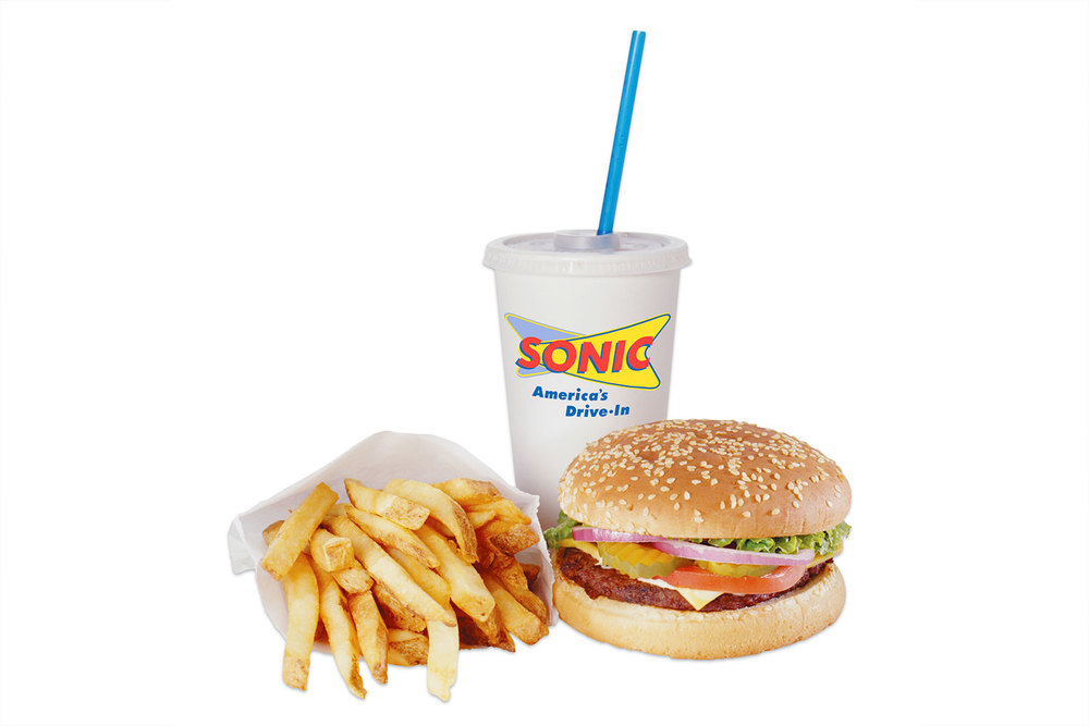 Sonic burger and fries