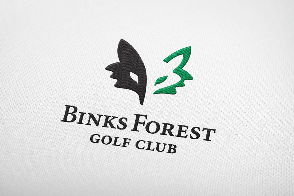Binks Forest Golf Club embroidered logo