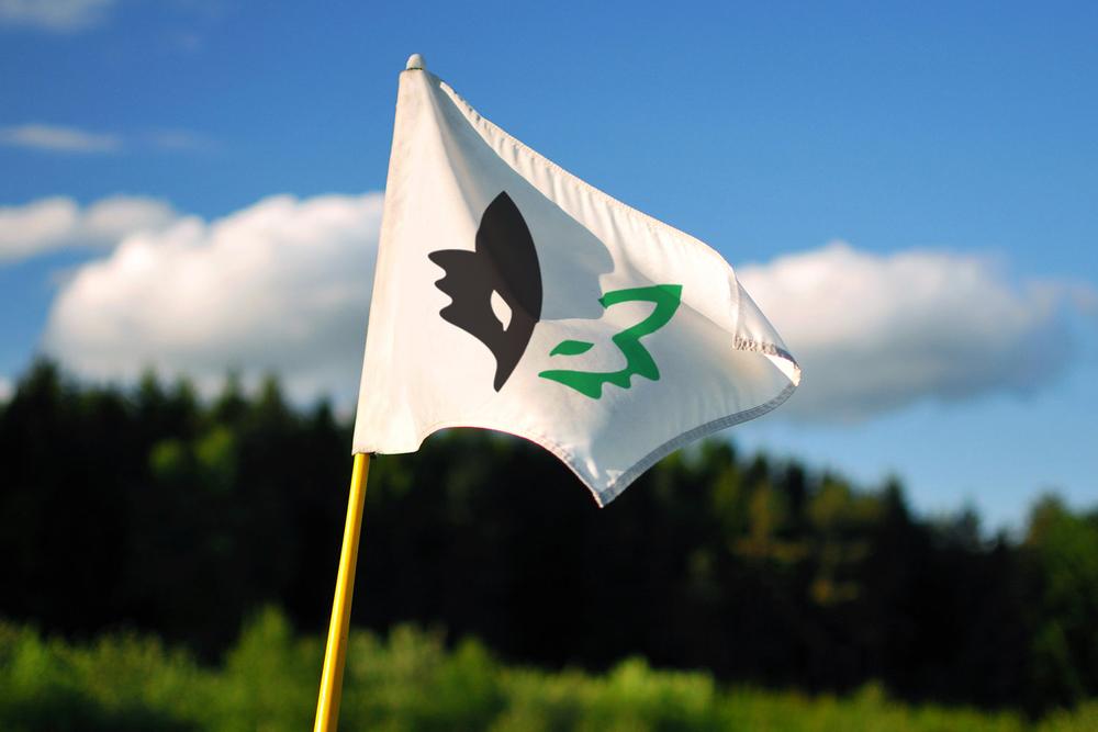 Binks Forest Golf Club putting green flag