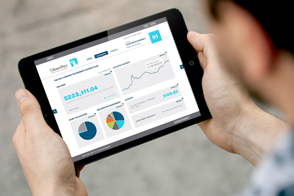 T. Rowe Price retirement savings dashboard