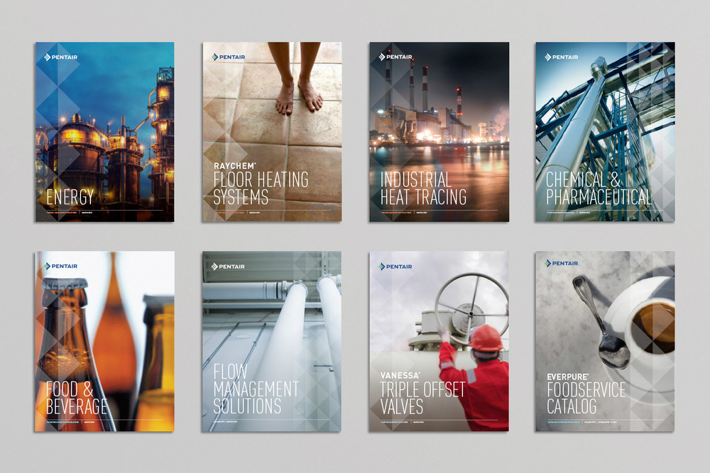 Pentair product catalog and publication covers