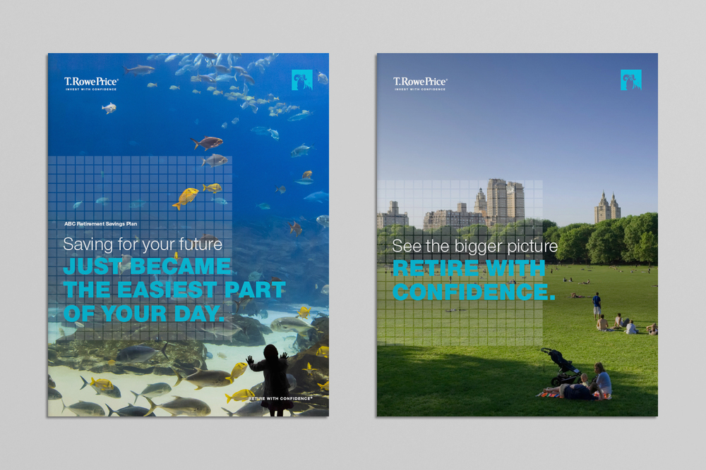 T. Rowe Price retirement savings brochure covers