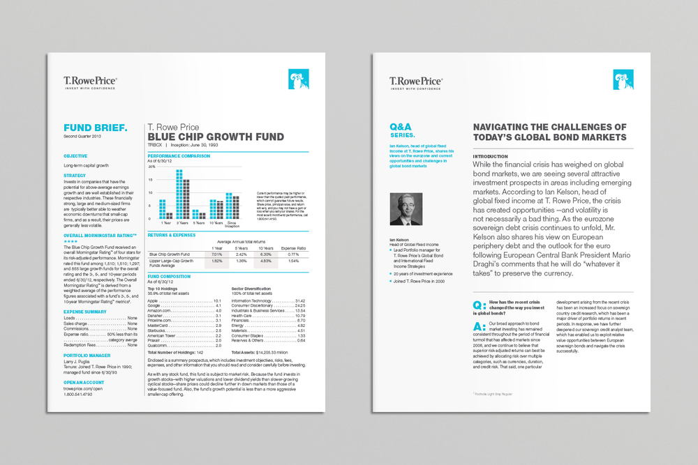 T. Rowe Price intellectual capital brochure covers