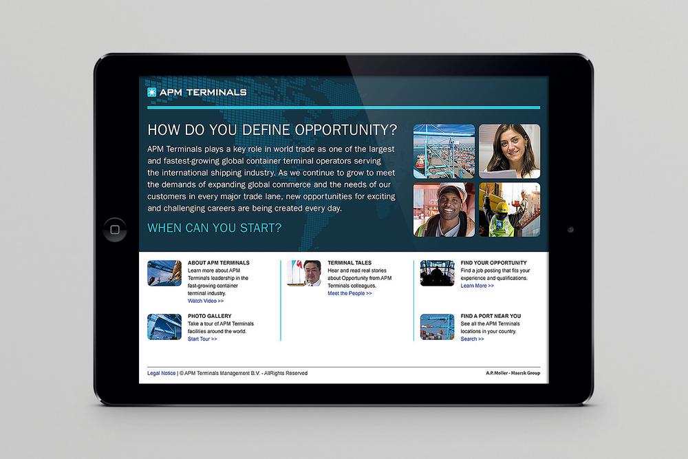 APM Terminals recruitment website home page