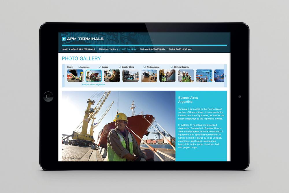 APM Terminals recruitment website, photo gallery