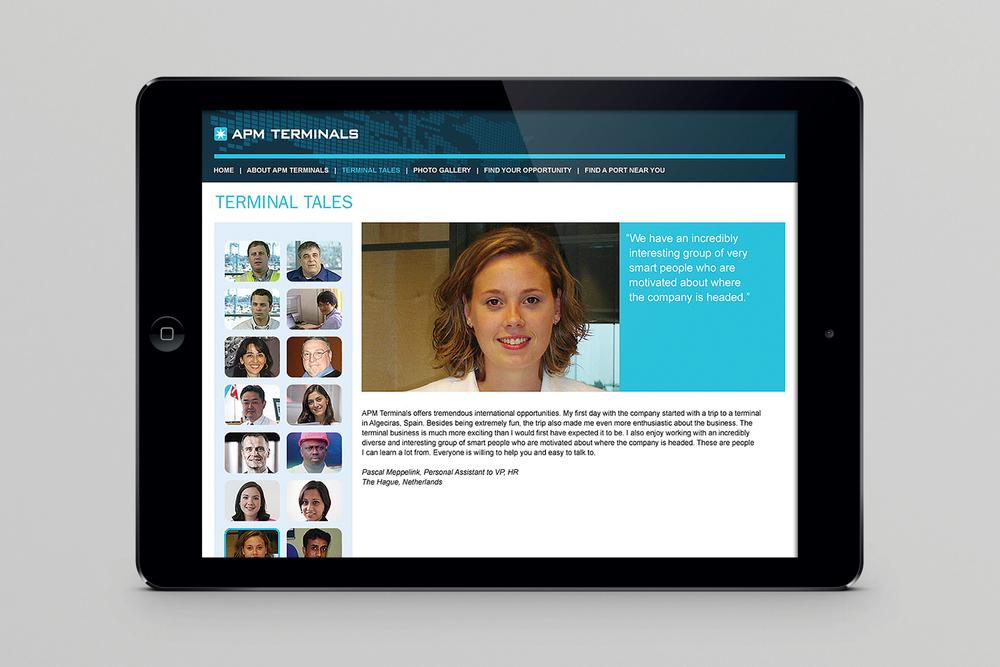 APM Terminals recruitment website, employee testimonials