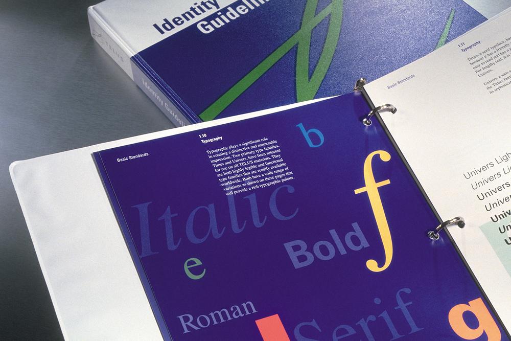 Telus brand guidelines, typography
