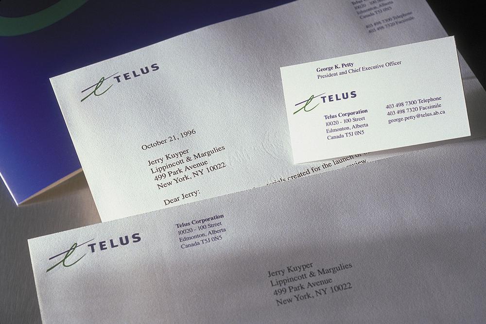 Telus stationery