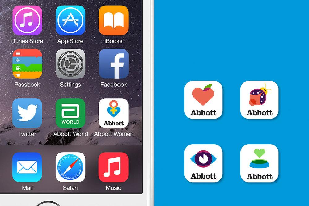 Abbott mobile app icons