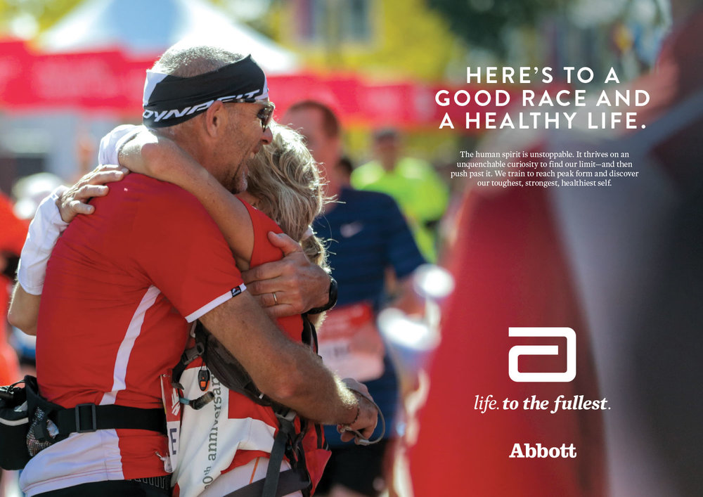 "Abbott ""Life. To the Fullest."" campaign ad"