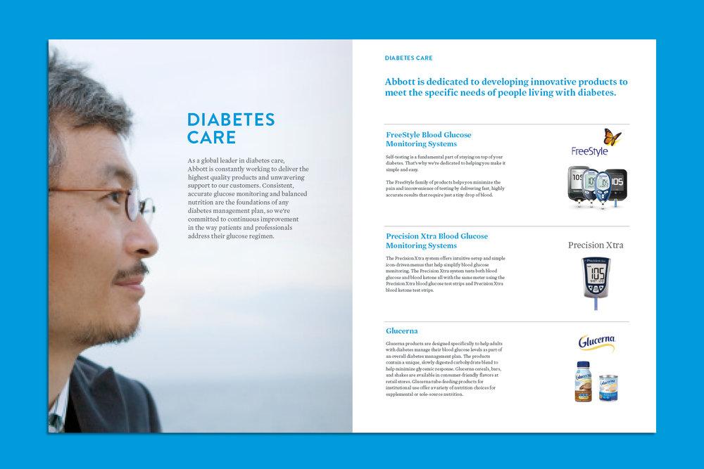 Abbott Diabetes Care brochure spread
