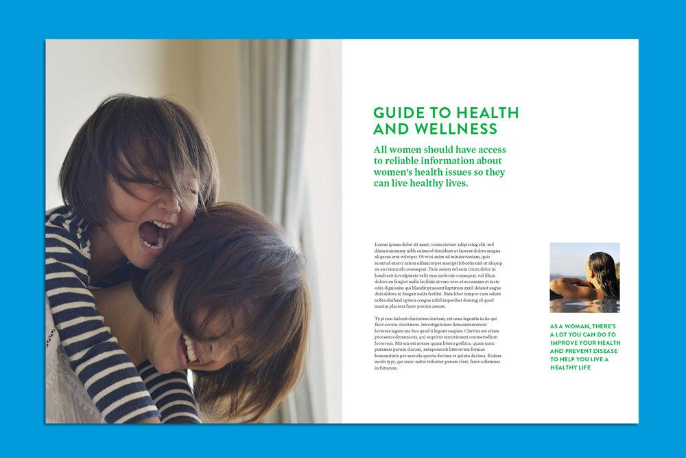 Abbott Women's Health brochure, spread