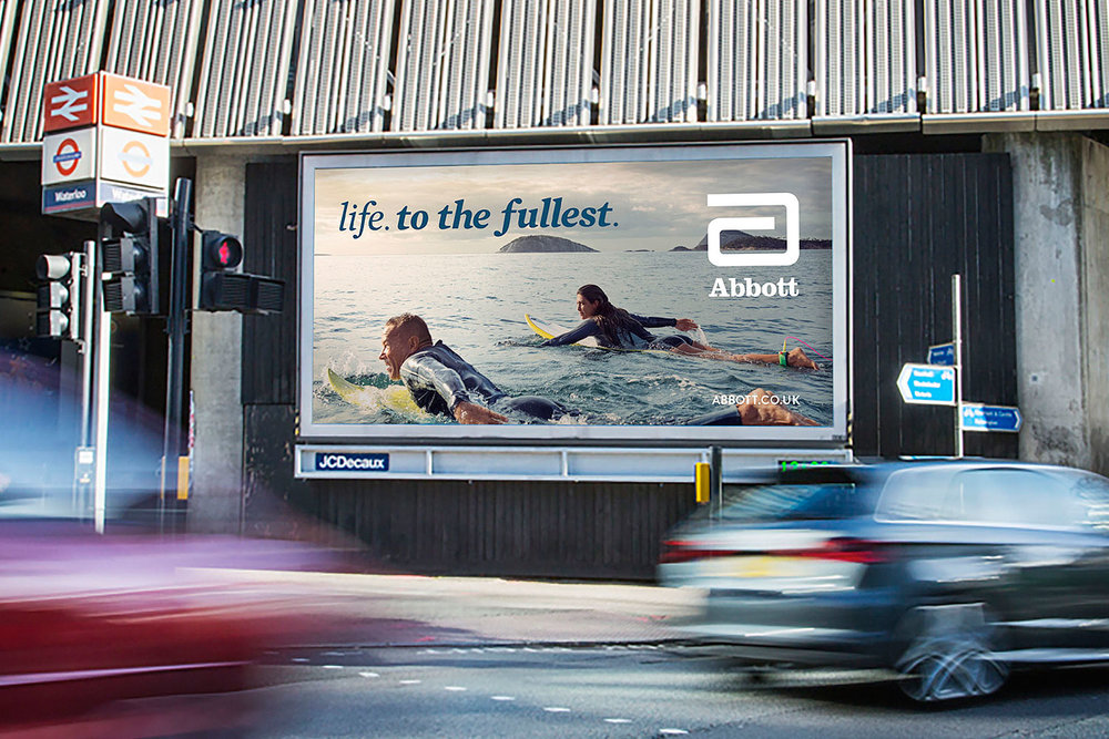 "Abbott ""Life. To the Fullest."" outdoor campaign"