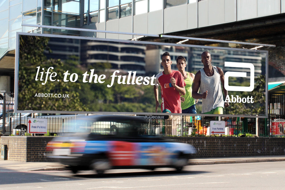 Abbott out-of-home awareness campaign
