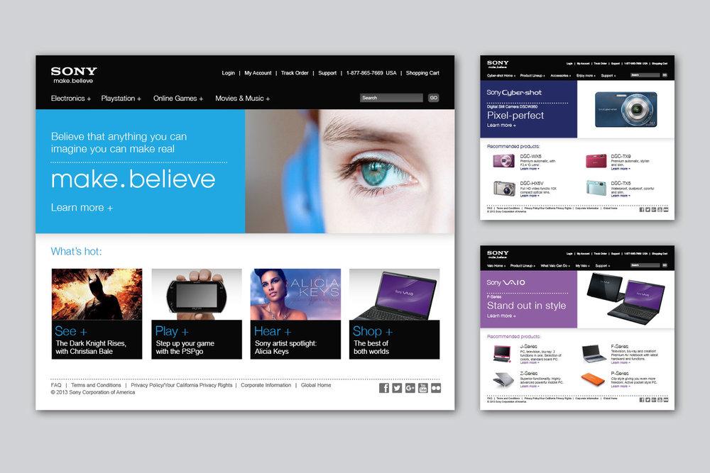 Sony website