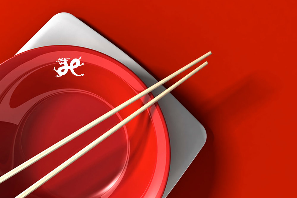 Hsiao Restaurant Group logo on flatware