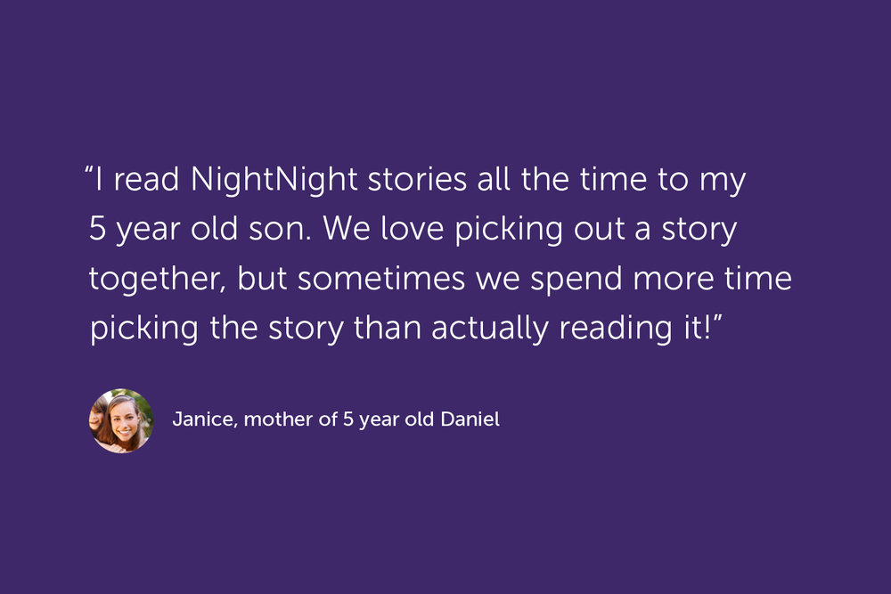 Quote, Janice, mother of 5 year old Daniel
