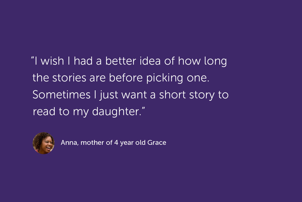 Quote, Anna, mother of 4 year old Grace