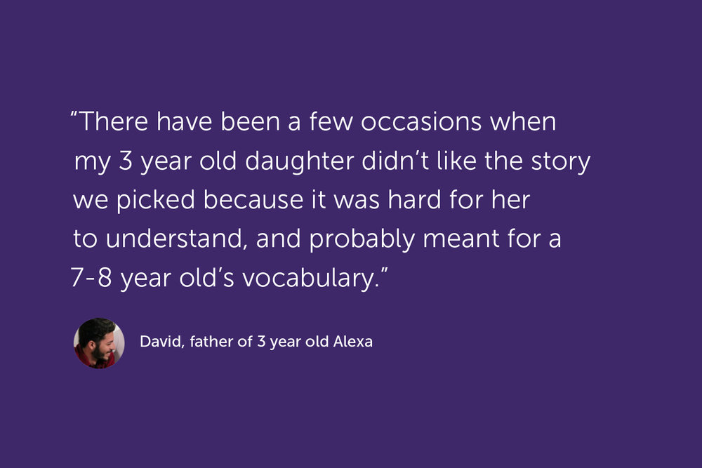 Quote, David, father of 3 year old Alexa