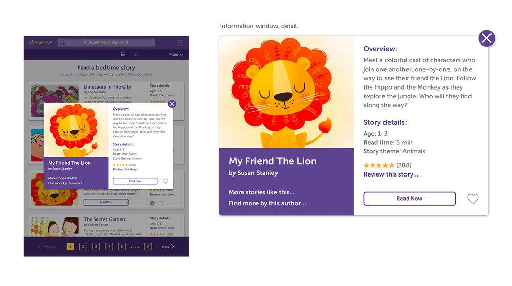 Visual design, info window