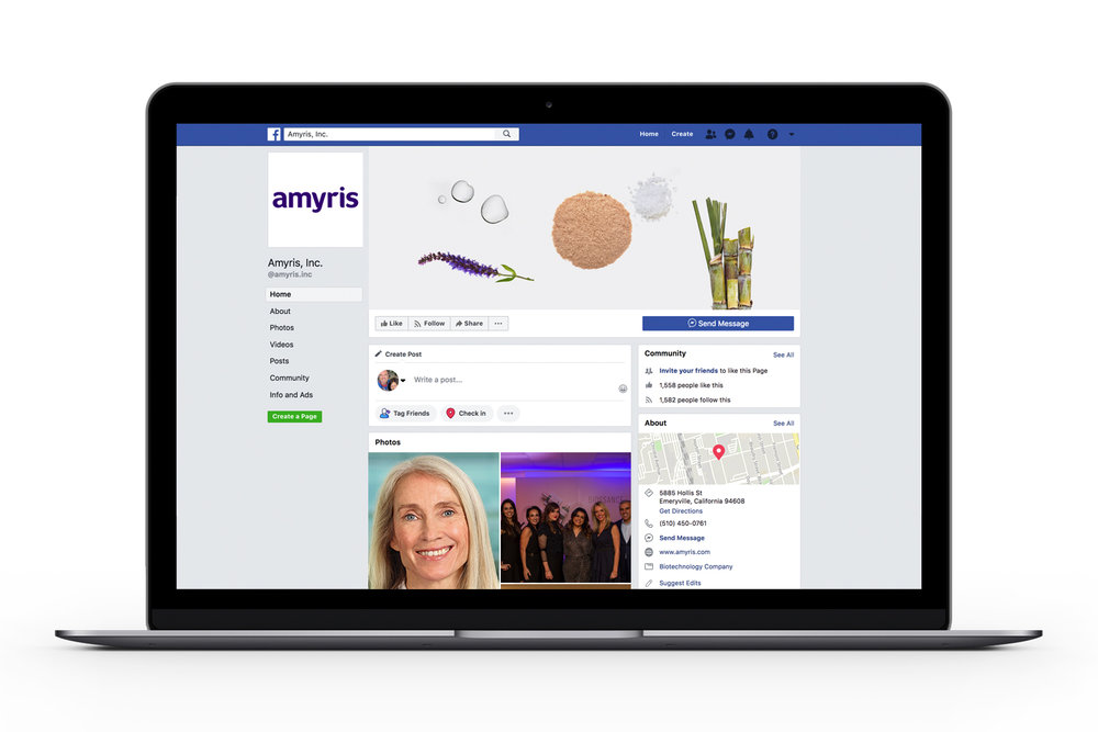 Amyris Facebook page