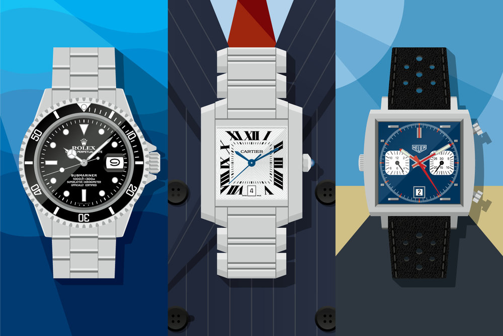 Time machines: Rolex Submariner Date, Cartier Tank and Heuer Monaco