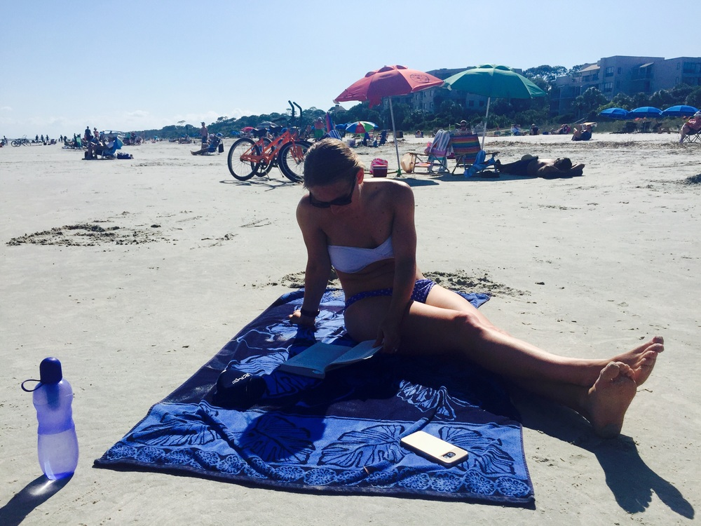 Here's Sal. She fucked up my sunscreen and looks so relaxed about it.