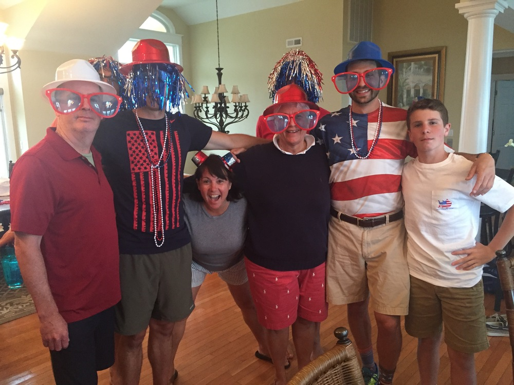My family is so American.
